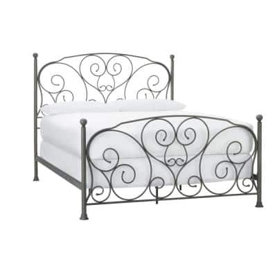 Dayport Oil Rubbed Bronze Metal Queen Scroll Bed (65 in W. X 54.92 in H.)