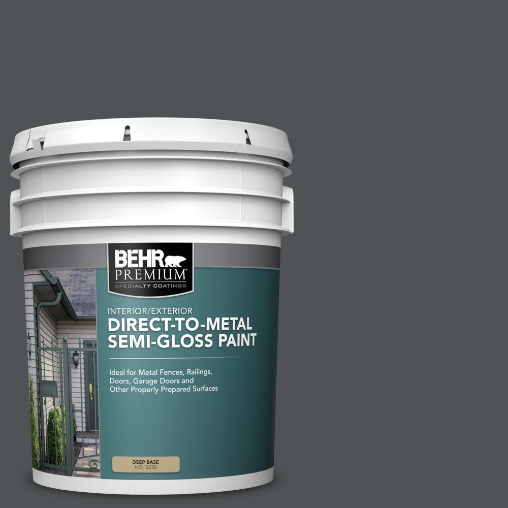 5 gal. #PPU25-01 Carbon Copy Semi-Gloss Direct to Metal Interior/Exterior Paint