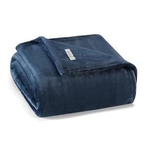 ED-Ellen DeGeneres Solid Ultra Soft Plush Dark Blue 1-Piece Blanket, Full/Queen
