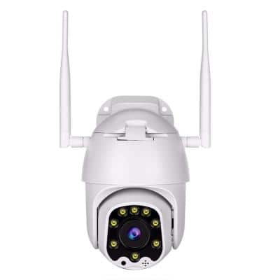 Wireless Wi-Fi HD 1080p Outdoor Indoor Metal Camera with PIR Motion Sensor and 1-Way Audio and Night Vision 8GB