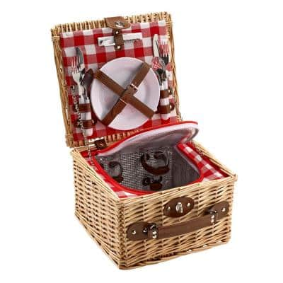 Natural Picnic Basket (Set for 2)