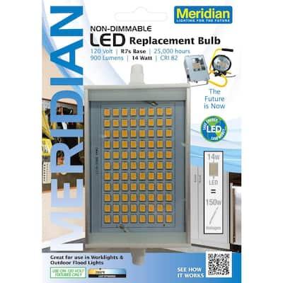 150W Equivalent Soft White (2800K) R7s LED Light Bulb