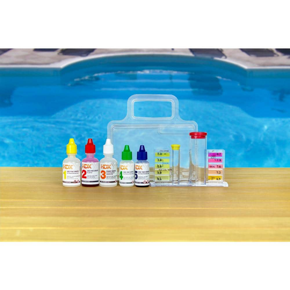 Hdx 5 Way Swimming Pool And Spa Test Kit 62364 The Home Depot