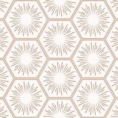 28 sq. ft. Hello Sunshine Autumn Bronze Peel and Stick Wallpaper
