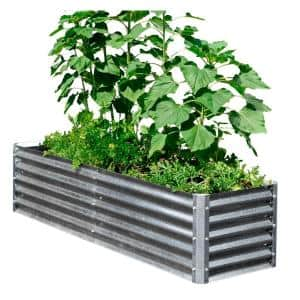 Alto Series 22 in. x 76 in. x 17 in. Galvanized Metal - Row Bed Bundle