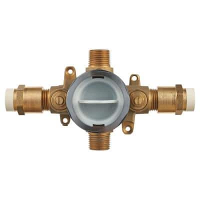 Flash Shower Rough-In Valve with CPVC Inlets/Universal Outlets with Screwdriver Stops