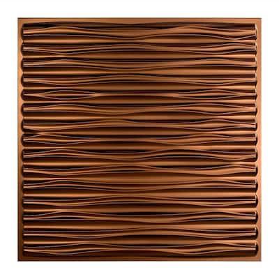 Dunes 2 ft. x 2 ft. Oil Rubbed Bronze Lay-In Vinyl Ceiling Tile ( 20 sq.ft. )