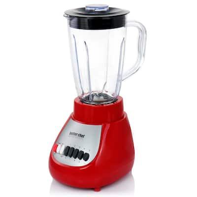 50 oz. 10-Speed Red 350-Watt Blender with Plastic Jar