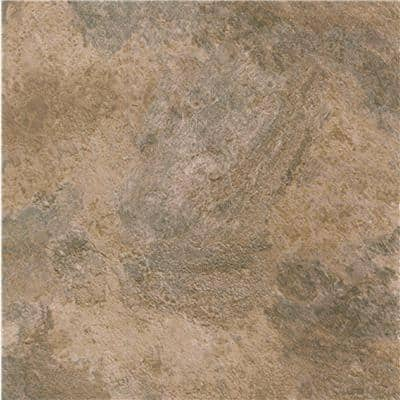 Natural Black and Tan Stone, 12 in. x 12 in., Self-Stick Vinyl Tile, 1.1 mm, (45 sq. ft. / case)