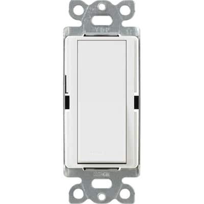 Claro 15 Amp On/Off 4-Way Switch, White