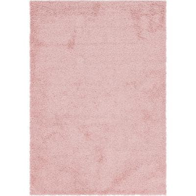 Davos Shag Dusty Rose Pink 7 ft. x 10 ft. Area Rug