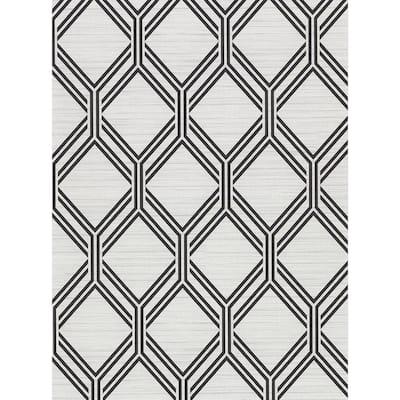 Vaughan Grey Geometric Grey Vinyl Strippable Roll (Covers 60.8 sq. ft.)