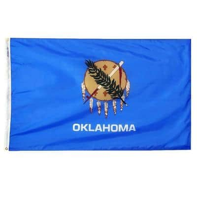 5 ft. x 8 ft. Nylon Oklahoma State Flag