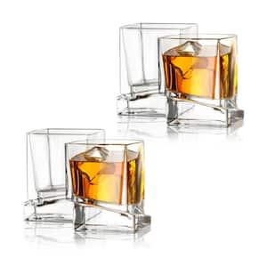 JoyJolt Carre Square 10 oz. Whiskey Glasses (Set of 4) Deals
