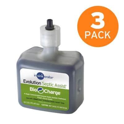Bio-Charge Cartridge Replacement for Evolution Septic Assist Garbage Disposals (3-Pack)