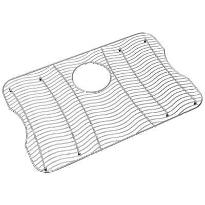 Lustertone 23 in. x 15 in. Bottom Grid for Kitchen Sink in Stainless Steel