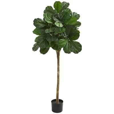 Indoor 5 ft. Fiddle Leaf Fig Artificial Tree