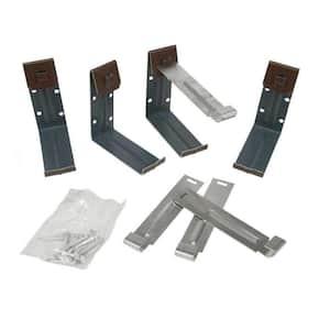 5 in. Brown K-Style Steel Gutter Fascia Bracket (4-Pack)