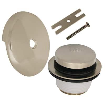 Touch Toe Bath Tub Drain Trim Kit in Brushed Nickel