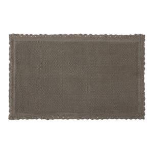 Reversible Crochet Beaded 17 in. x 24 in. Bath Rug, Charcoal
