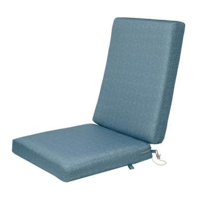 Weekend 44 in. W x 20 in. D x 3 in. Thick Outdoor Dining Chair Cushions in Blue Shadow