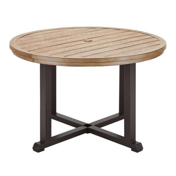48 in round steel outdoor dining table