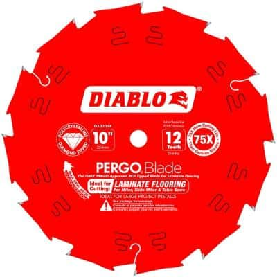PERGOBlade 10 in. x 12-Tooth Polycrystalline Diamond (PCD) Tipped Ultimate Flooring Circular Saw Blade