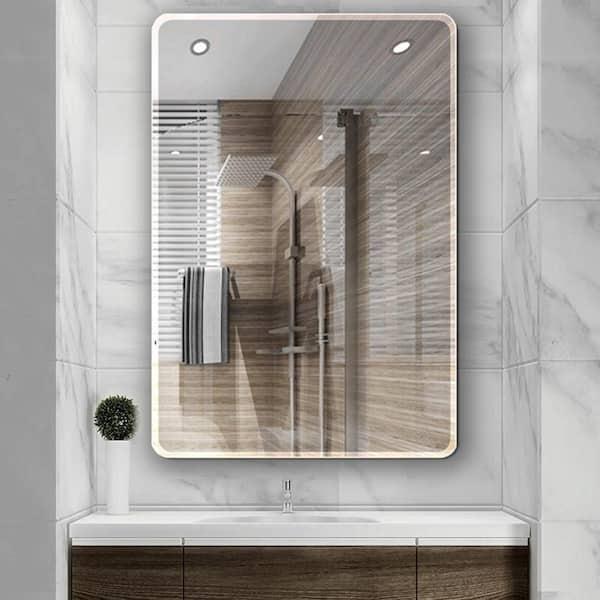 Single Frameless Bathroom Wall Mirror, Vanity Mirror Frameless