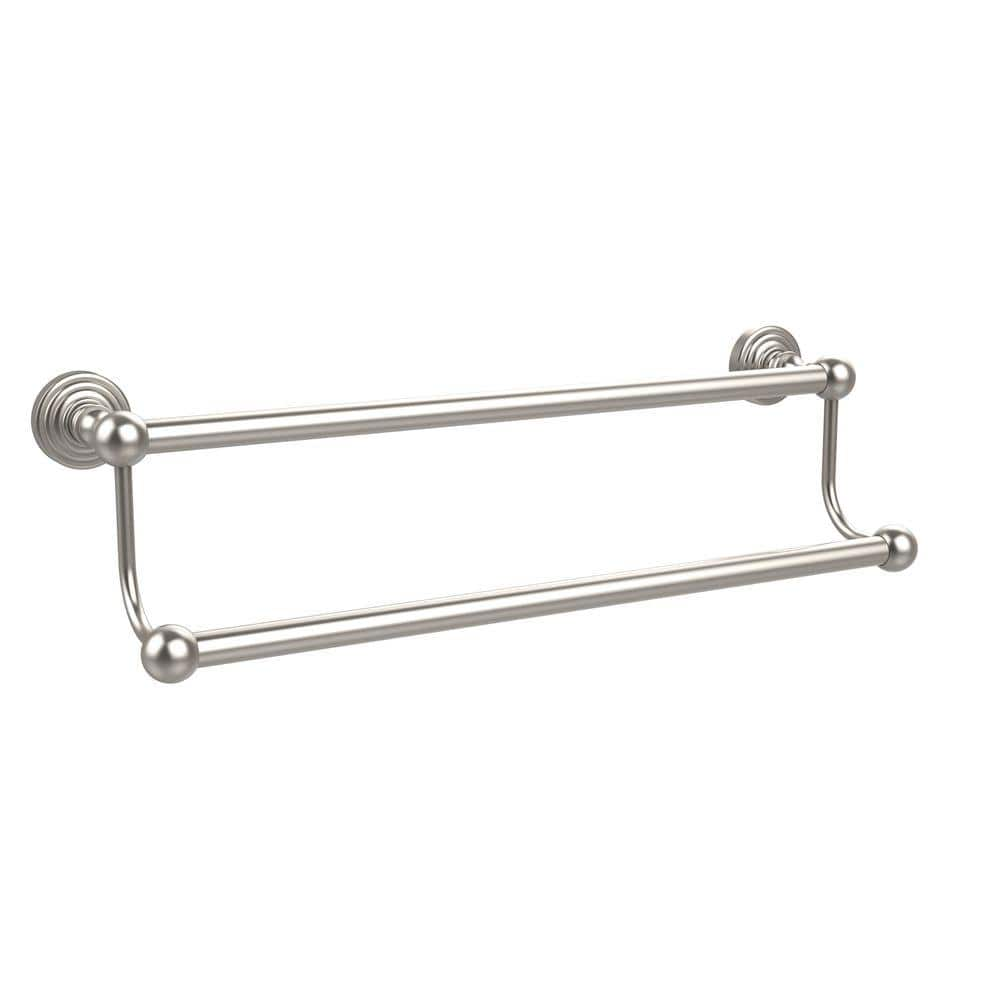 Allied Brass Waverly Place Collection 20 in. Double Towel Bar in Satin  Nickel WP 20/20 SN   The Home Depot