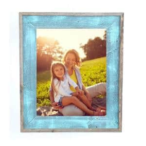 Rustic Farmhouse Artisan 6 in. x 6 in. Robins Egg Blue Reclaimed Picture Frame