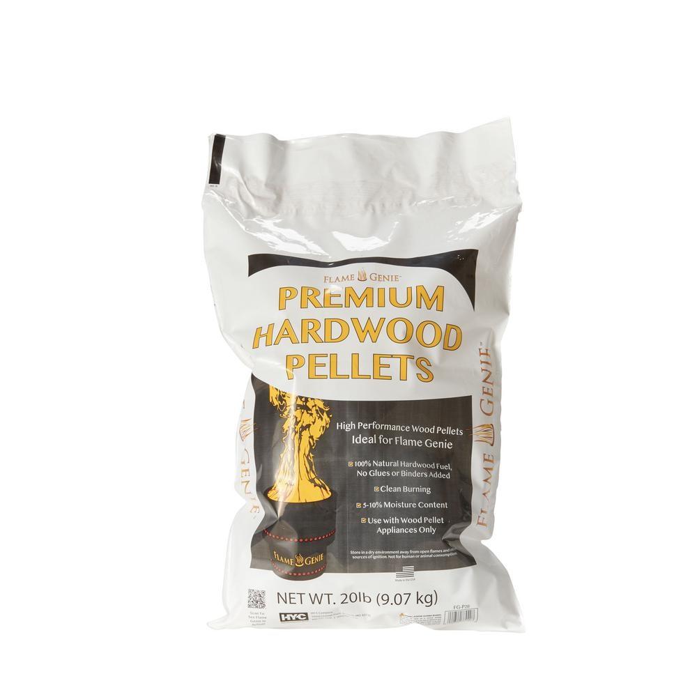 Hy C Flame Genie Premium Wood Pellets Fg P20 The Home Depot