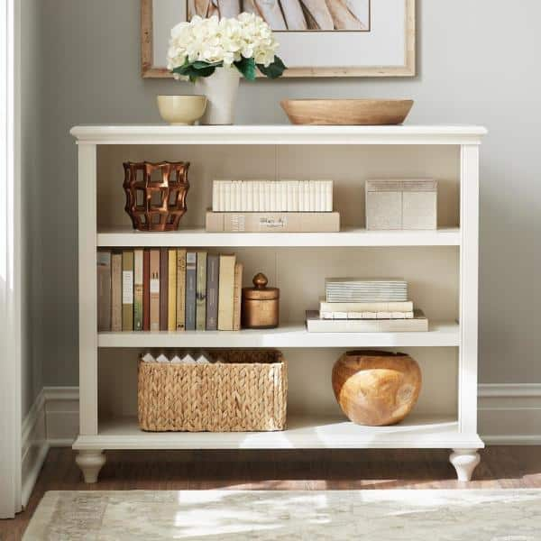 Home Decorators Collection 36 in. Polar White Wood 3-shelf Accent