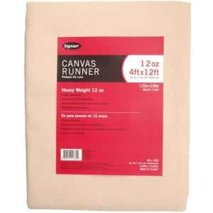 3 ft. 9 in. x 11 ft. 9 in., 12 oz. Canvas Drop Cloth Runner