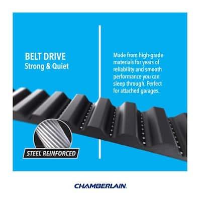 1/2 HP Belt Drive Wi-Fi Smart Garage Door Opener with Battery Backup