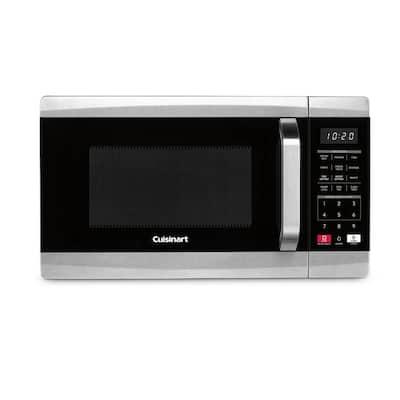 0.7 cu. ft. 700-Watt Countertop microwave in Black and Stainless Steel