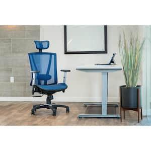 Blue Mesh Office Chair