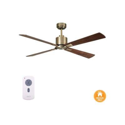 Climate Antique Brass and Walnut 52 in. DC Ceiling Fan
