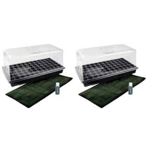 Germination Hot House with Heat Mat Hydroponic Flower Grow (2-Pack)