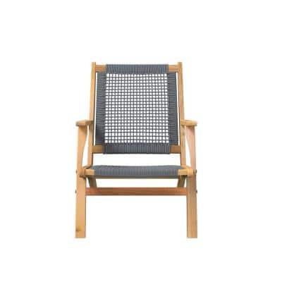Wood Outdoor Lounge Chair in Gray