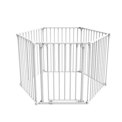 30 in. H Super Wide 3-in-1 Playpen Barrier, 6 Panel Play Yard and Baby Gate