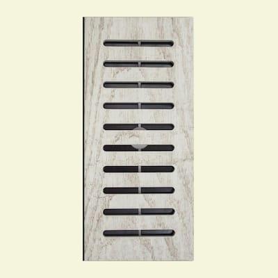 Made2Match MARAZZI Montagna White Wash Glazed Porcelain 5 in. x 11 in. Floor Vent Register Tile Edging Trim