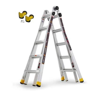 22 ft. Reach MPXA Multi-Position Ladder/MPXA Wheel Kit (Combo-Pack)