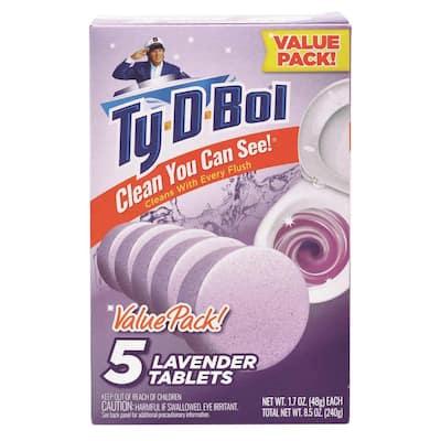 1.7 oz. Lavender Toilet Bowl Cleaning Tablets (5 Tablets)