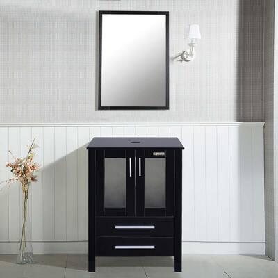 20 in. W x 24 in. D Bath Vanity with Vanity Top in Black and Mirror