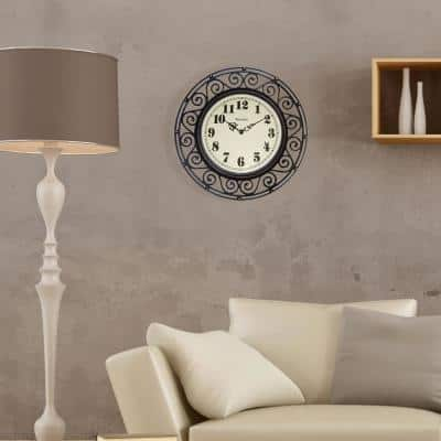 12 in. Wrought Iron Design Wall Clock