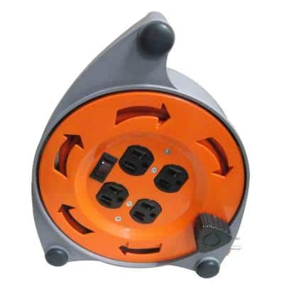 20 ft. 16/3 Retractable Extension Cord Reel with 4-Outlets