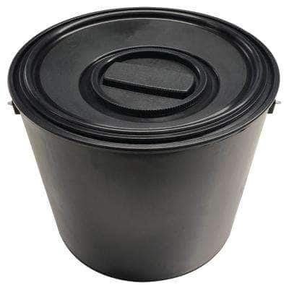 1 gal. Empty Plastic Paint Can with Pour Spout Lid