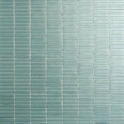 Tara Seafoam 11.61 in. x 11.73 in. Stacked Glass Mosaic Tile (0.95 Sq. Ft. / Sheet)