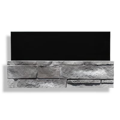 6 in. x 24 in. Stone Veneer Ledgestone Flat Sample (No Flashing) Evening Gray (Ea)