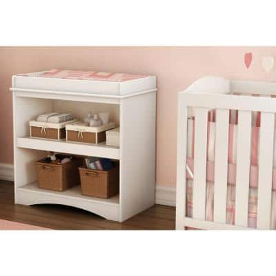 Peek-A-Boo Pure White Changing Table